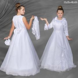 Communie jurk met tasje en jasje Larissa