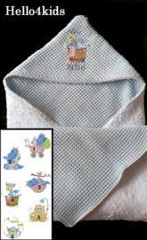 Badcape omslagdoek wikkeldoek 2 kanten draagbaar