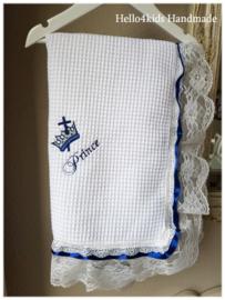 Moderne doopdeken Prince  Navy blue