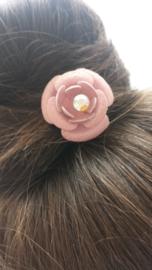 xl haarpin roze glitterbloem