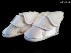 Unisex witte doop laarsjes satijn