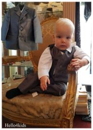 5 delig antraciet grijs baby kostuum 3-6 mnd