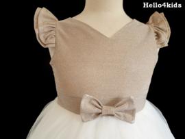 Communie - Bruidsmeisjes jurk Bling Goud of Zilver