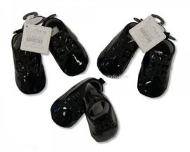 zwarte baby jongens  lakschoentjes met veter