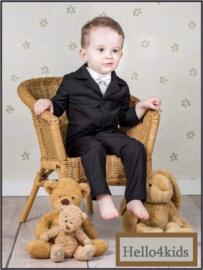 Zwart baby bruidsjonker- doop  feest kostuumpje Stoer