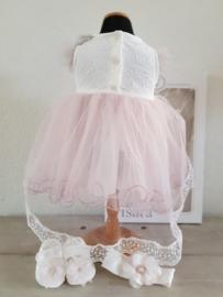 baby feest setje roze ivoor Visara Vs0-4