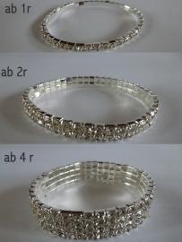 Armband zilverkleurig met strass steentjes AB R