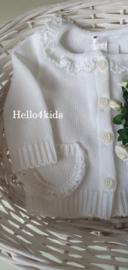 Meisjes Baby vestje wit  34