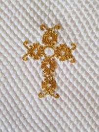 Doopdeken heilig kruis Goud