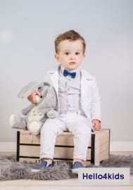 Wit stijlvol baby peuter kostuumpje anker