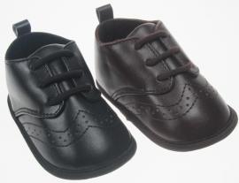 baby schoentjes zwart of bruin.