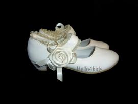 ivoor  bruidsmeisjes Feest schoentje rozet
