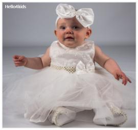 Ivoor bruidsmeisjes - Doop  - fotoshoot  Strik & Strass