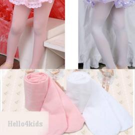 wit of roze meisje panty 80 t/m 176