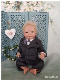 Antraciet baby peuter kostuumpje Tex