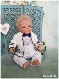 Baby vestje voor doop - bruidsjonker - feest Met Anker