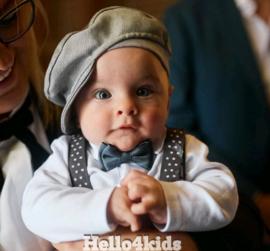 baby peuter Petje met klep (flat cap)