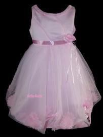 Roze Bruidsmeisjes communiejurk Eva
