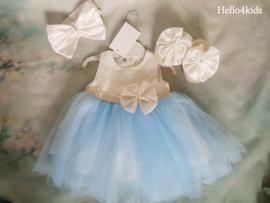 Blauwe bruidsmeisjes - Doop - fotoshoot Strik & Strass