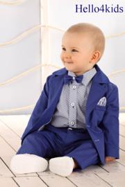 Baby peuter kostuumpje koningsblauw