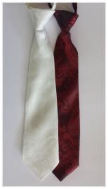 Chique stropdas ivoor of Bordeaux