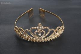 goud kleurig bruidsmeisjes communie kroontje