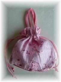 Roze meisjes tasje met pailletjes