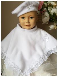 Witte Doop poncho bruidsmeisje Cape