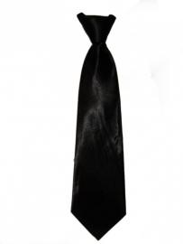 Zwart glanzende stropdas