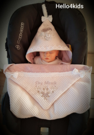 Doop geboorte deken voor in de Maxi cosi of buggy