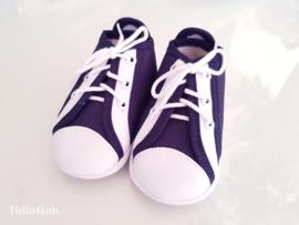 Toma navy blue bruidsjonker doop schoentjes