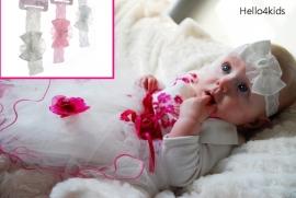 Haarbandje roze,wit,ivoor