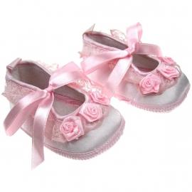 Lief Brocante roze baby schoentjes 3-6 mnd