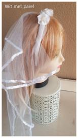 meisjes bruidssluier wit & roze