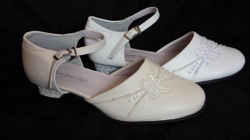 bruidsmeisjes,communie  schoentje wit, ivoor & creme