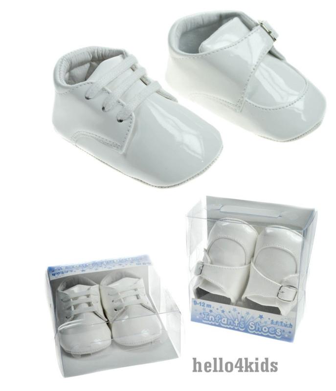 wit baby jongens lakschoentje