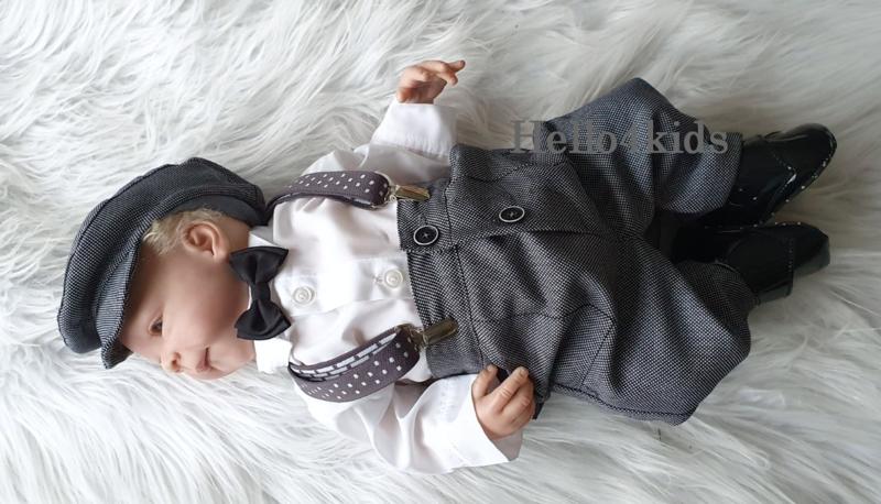 Grijs  Chique Peaky blinders baby style