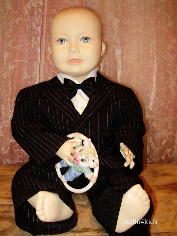 kinder Baby-peuter kostuum   krijtstreep Stijn