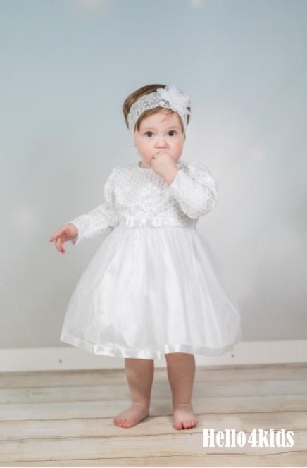 wit baby feestjurkje 48