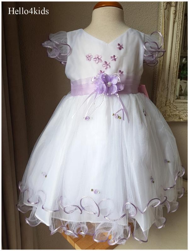 Bruidsmeisjes jurk doop Eden lila Maat 80
