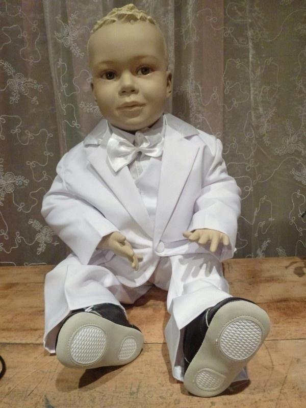 Wit  kinder smoking / kostuum  Sem Maat  98
