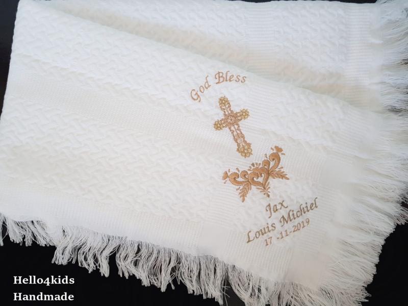 Doopdeken heilig kruis met takken