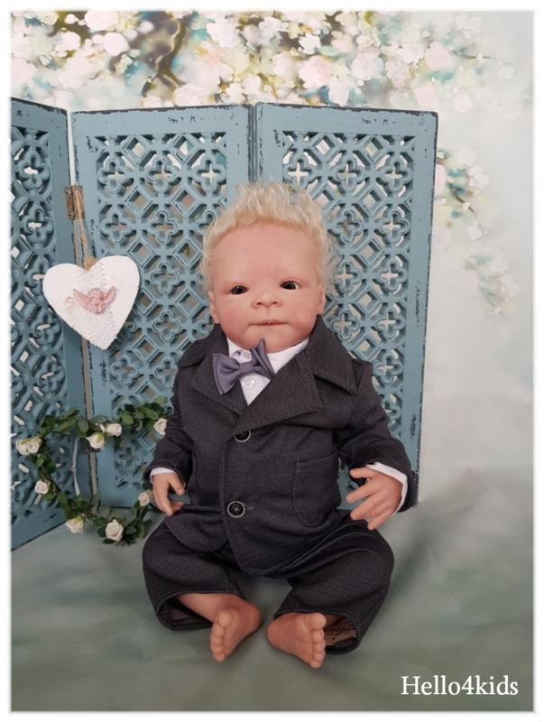 Antraciet grijs baby peuter kostuumpje 29
