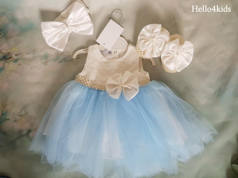 Blauwe bruidsmeisjes - Doop - fotoshoot Visara Strik & strass