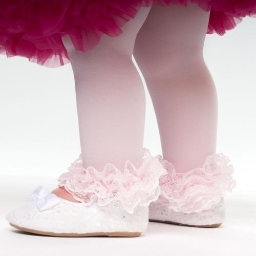 Baby panty voetloos met kant