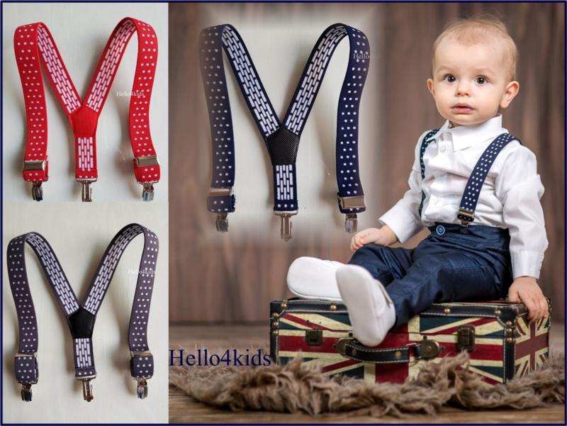 Baby bretels met stip 56 t/m 98