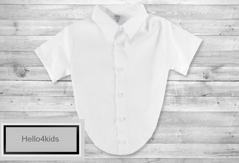 Baby Romper overhemd korte mouwen