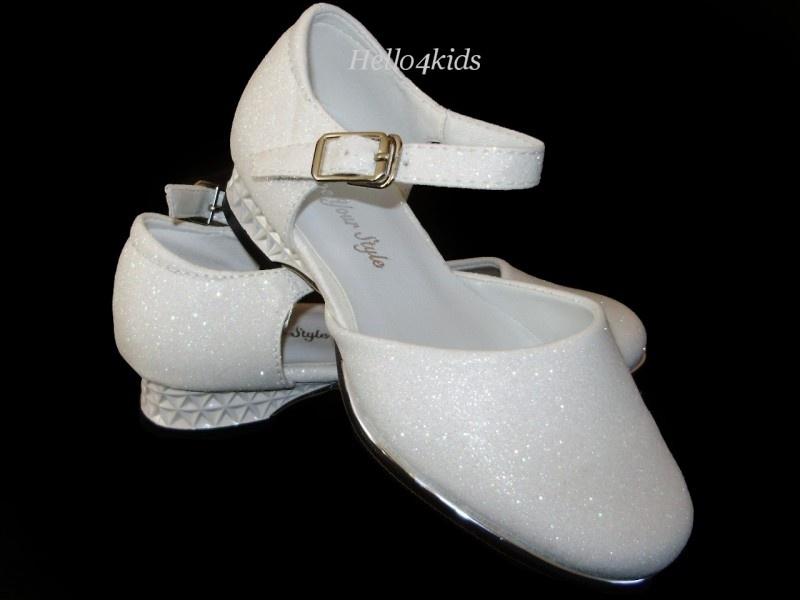 Schoentje met glitters Creme/ivoor vanaf