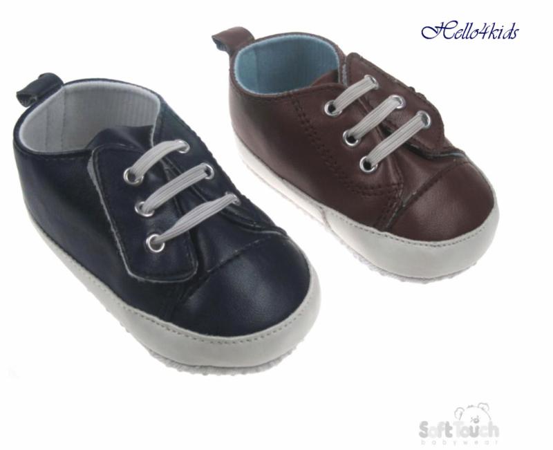 jongens baby schoen bruin & blauw