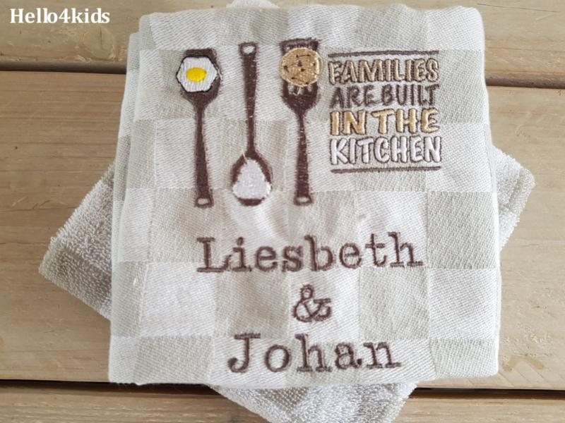 Theedoek & handdoek Samen wonen/nieuw huis